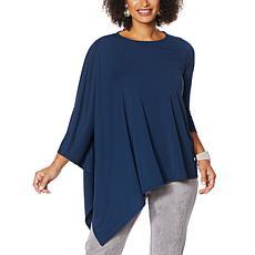 """""""As Is"""" MarlaWynne Luxe Jersey Asymmetric Top"""