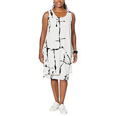 """As Is"" MarlaWynne Luxe Jersey Sleeveless Overlay Dress"