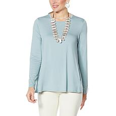 """""""As Is"""" MarlaWynne Modern Butterfly Tee with Pockets"""