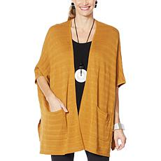 """As Is"" MarlaWynne Ribbed Stitch Oversized Cardigan"