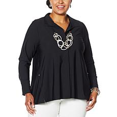 """As Is"" MarlaWynne Stretch Tech Shirt Jacket"