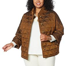 """As Is"" MarlaWynne Triangular Quilted Coat"
