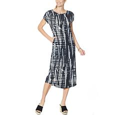 """""""As Is"""" ModernSoul® Ruched-Sleeve Midi Dress"""