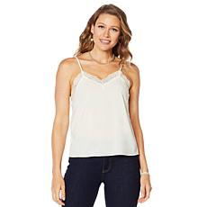 """""""As Is"""" Motto Lace Trim Tank Top"""