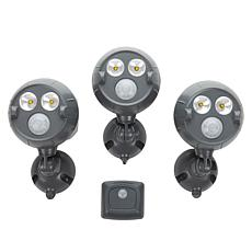 """As Is"" Mr. Beams UltraBright NetBright Spotlight 3-pk w/ Motion Se..."