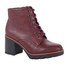 """As Is"" Naturalizer Madalynn Heeled Lug-Sole Boot"
