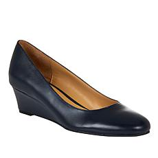 """""""As Is"""" Naturalizer Pilar Leather Wedge Pump"""