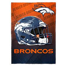 """As Is"" Officially Licensed NFL Fleece Speed Flex Throw - Broncos"