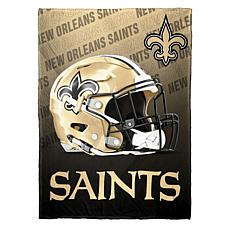 """As Is"" Officially Licensed NFL Fleece Speed Flex Throw - Saints"