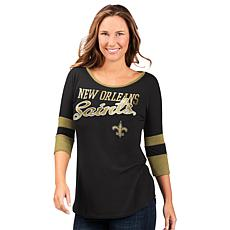 """As Is"" Officially Licensed NFL Women's 3/4 Sleeve Game Changer Tee..."