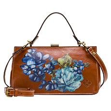 """""""As Is"""" Patricia Nash Ardella Leather Metal Frame Satchel"""
