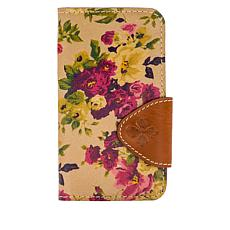 """""""As Is"""" Patricia Nash Brenna Leather iPhone 10 Case Wallet"""