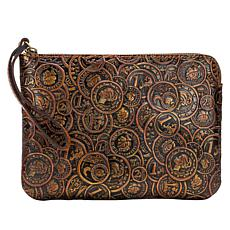"""""""As Is"""" Patricia Nash Cassini Coin-Tooled Leather Wristlet"""