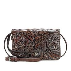 """As Is"" Patricia Nash Francia Tooled Leather Crossbody"