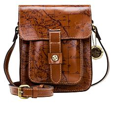 """As Is"" Patricia Nash Lari Leather Flap Crossbody"