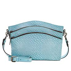 """As Is"" Patricia Nash Lorraine Leather Triple-Zip Crossbody Bag"