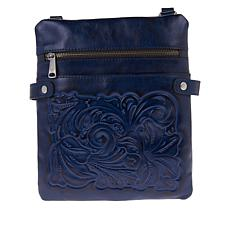 """""""As Is"""" Patricia Nash Prizzi Leather Crossbody"""