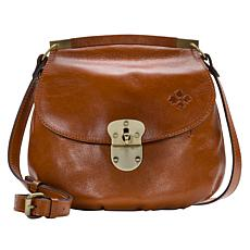 """As Is"" Patricia Nash Veneto Leather Crossbody Bag"