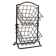 """As Is"" Pfaltzgraff 2-Tier Hanging Basket"