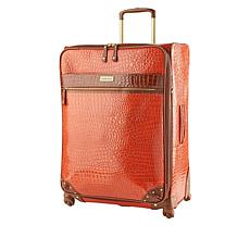 """As Is"" Samantha Brown 26"" Spinner Croco Embossed Suitcase"