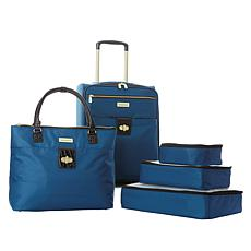"""As Is"" Samantha Brown 5pc Luggage Set with Spinner, Tote and Packi..."