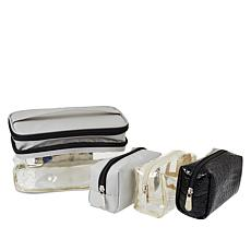"""As Is"" Samantha Brown Double Decker Cosmetic Case Set"