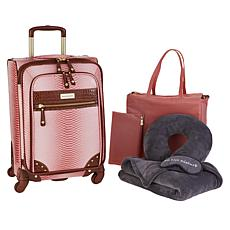 """""""As Is"""" Samantha Brown Ombré Croco Embossed 6-piece Luggage Set"""