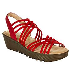 """As Is"" Skechers Petite Parallel Crossed Wires Wedge Sandal"