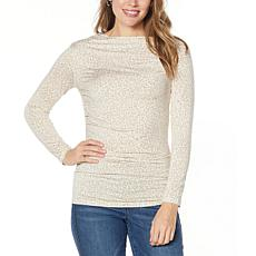 """As Is"" Skinnygirl Boatneck Side Ruched Top"