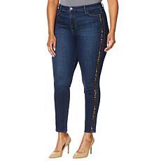 """As Is"" Skinnygirl Broadway High-Rise Side Stripe Skinny Jean"