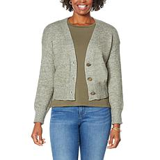 """As Is"" Skinnygirl Camden Button-Front Cropped Cardigan"