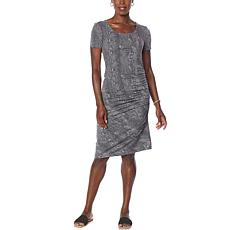"""""""As Is"""" Skinnygirl Connie Short-Sleeve Ruched Midi Dress"""