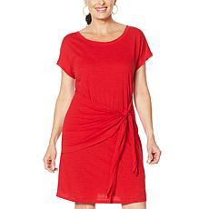 """""""As Is"""" Skinnygirl Deborah Draped Side Tie T-Shirt Dress"""