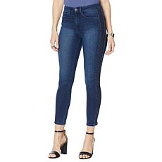 """As Is"" Skinnygirl Embroidered Side Stripe Skinny Jean"