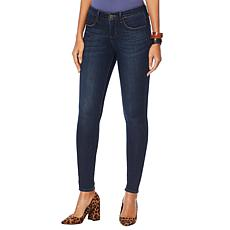 """As Is"" Skinnygirl Empower Stretch Mid-Rise Jean - Basic"