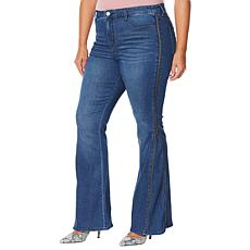 """""""As Is"""" Skinnygirl Power Moves High-Rise Side Zip Flare Jean"""