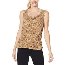 """""""As Is"""" Skinnygirl Side Ruched Knit Tank"""