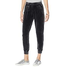 """As Is"" Skinnygirl Snow Wash Velour Jogger Pant"