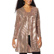 """As Is"" Slinky® Brand Sequin Jacket Duster"
