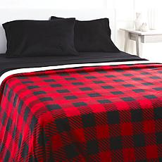 """""""As Is"""" Soft & Cozy Plush Sheet and Blanket Set"""