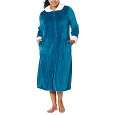 """""""As Is"""" Soft & Cozy Super Soft Style & Comfort Zip-Front Robe"""
