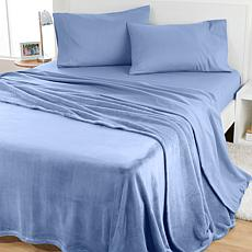 """As Is"" South Street Loft Blanket and Sheet Set"