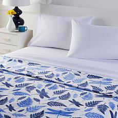 """As Is"" South Street Loft Plush Blanket and Microfiber Sheet Set"