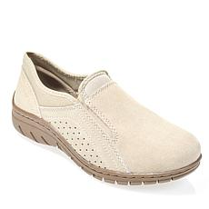 """As Is"" Sporto® Max Water-Repellant Suede Slip-On Shoe"