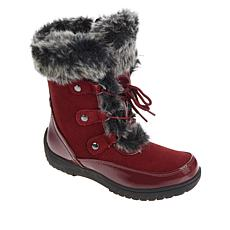 """""""As Is"""" Sporto® Minor Waterproof Suede Mid-Calf Boot with Faux Fur ..."""
