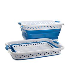 """As Is"" StoreSmith 2-pack Collapsible Laundry Baskets"