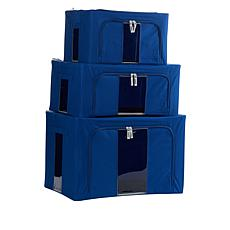 """As Is"" StoreSmith Set of 3 Collapsible Storage Bins"