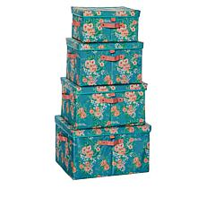 """""""As Is"""" StoreSmith Storage Bins with Lids - Set of 4"""