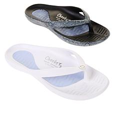 """As Is"" Tony Little Cheeks® 2-pack Sport Sandal with Gel Footbed"