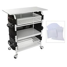 """""""As Is"""" Totally-Tiffany Crafty Cutter Cart with Apron and Die Storage"""